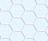 Weiß 3D mit Farben hexagonalen Gitter