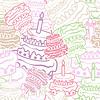 Торт бесшовные фон | Векторный клипарт