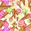 Мороженое бесшовного фона | Векторный клипарт