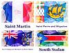 Векторный клипарт: набор флагов