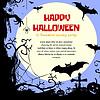 Векторный клипарт: Хэллоуин стиле дизайн кадр с местом для текста