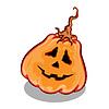 Векторный клипарт: Хэллоуин тыква с забавным выражением лица