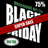 Black Friday Banner Template-Design | Stock Vektrografik