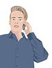 stattlicher Mann, der am Telefon spricht