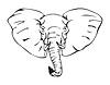 Afrikanischer Elefant | Stock Vektrografik