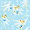 Vektor Cliparts: Blauer Weihnachtshintergrund mit Weihnachtskugeln
