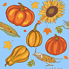 Vektor Cliparts: Herbsternte, nahtlose