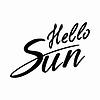 Векторный клипарт: Hello Sun: рукописный текст вектор.