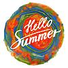 Векторный клипарт: Hello Summer: рукописный текст вектор.