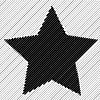 Векторный клипарт: Абстрактный полосатый фон звезды