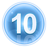 Number ten icon ice   Stock Illustration