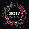 Happy new year 2017 celebration card | 向量插图