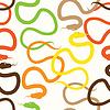Schlangen. Abstrakte bunte seamless pattern