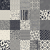 25 seamless different monochrome patterns. | Stock Vector Graphics
