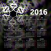 Kalender 2016 Template-Design mit Kopfbild | Stock Vektrografik