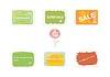 Векторный клипарт: Этикетки на скидки и экологически чистые