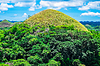 Famous Chocolate Hills natural landmark | 免版税照片
