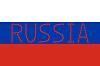Russische Flagge und Wort Russland der Herzen