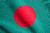 Flag of Bangladesh waving with fabric texture | Stock Illustration