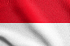 Flag of Indonesia waving with fabric texture | Stock Illustration