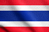 Flag of Thailand waving with fabric texture | Stock Illustration