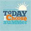 Heute i wählen Sommer Quote Typografische retro