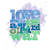 Love is Art von Krieg, Zitat auf Aquarell | Stock Vektrografik