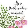 Vektor Cliparts: schönes Leben Zitat mit Blumenaquarell