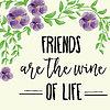Vektor Cliparts: schöne Freundschaft Zitat mit Blumenaquarell