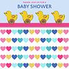 Vektor Cliparts: Zarte Baby-Dusche-Karte mit Ente Spielzeug
