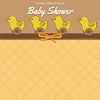 Vektor Cliparts: Zarte Baby-Dusche-Karte mit Spielzeug
