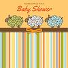 Vektor Cliparts: Zarte Baby-Dusche-Karte mit Schafen