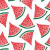 Vektor Cliparts: Aquarell Wassermelone Hintergrund
