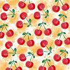 Vektor Cliparts: Frische Aquarell Sommer Hintergrund mit Kirschen