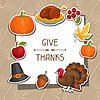 Happy Thanksgiving Day Hintergrund Design mit