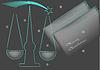 Weihnachtsgruß für Rechtsanwälte | Stock Vektrografik