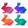 Ester bunny Farbe Set. Acryl