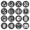 Векторный клипарт: Набор иконок с инвесторами
