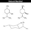 Векторный клипарт: Ментол - пищевой и фармацевтической добавки