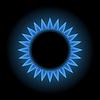 Blaue Flammen Gas-Herd