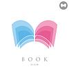 Векторный клипарт: Простой книга логотип концепция знак