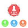 Векторный клипарт: Наука икона коническую колбу