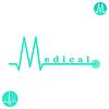 Векторный клипарт: М письмо медицина логотип