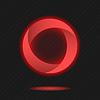 Векторный клипарт: Неоновая сегментирован значок круг