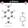 Векторный клипарт: Ксилол молекулы пара-ксилол изомер