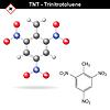 Векторный клипарт: Тринитротолуол - взрывчатое вещество TNT
