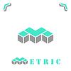 Векторный клипарт: М буква в изометрической стиле