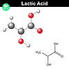 Векторный клипарт: Молекула молочной кислоты