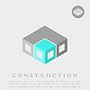 Векторный клипарт: Изометрические строительство куб блоки