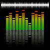 Векторный клипарт: Шкала эквалайзер с отражением и графика